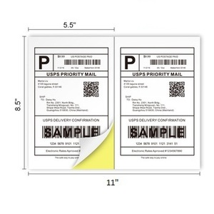 Blank writing paper shipping a4 half sheet labels adress sticker