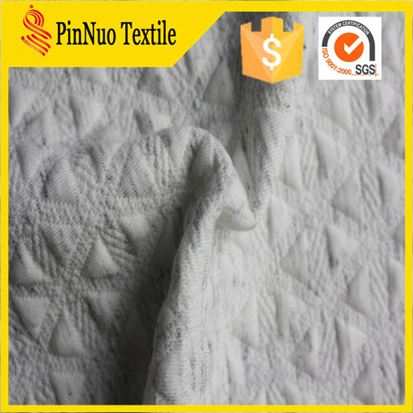 2015 hot sale 100%polyester jacquard fabric for mattress cover