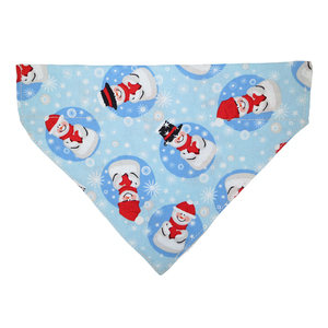 Pet Decoration Pure Cotton Snowman Hello Kitty Printed Christmas Pet Dog Neck Tube Bandana for Collar