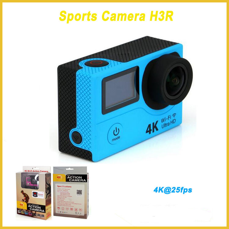 "WIFI 2.4G remote control under waterproof camera full hd H3R with 2.0""inch lcd 4k camera"