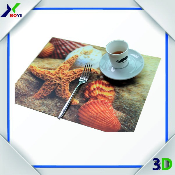 Hot Selling PP Plastic Table Mat/ 3D Lenticular Placemat/PP table mat