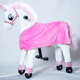 Gogo walking toy horse riding mall rides, plush soft kids ride on toys with rubber wheels