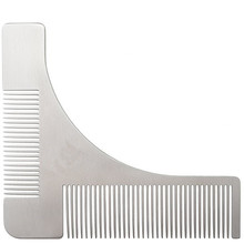 Stainless Steel Beard Styling and Shaping Template Comb Tool