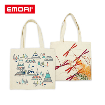 Silkscreen Print Eco Friendly Recycle Canvas Cotton Bag Product On Alibaba