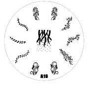 2015 new A Series A16 Nail Art Polish DIY Stamping Plates Image Templates Nail Stamp Stencil