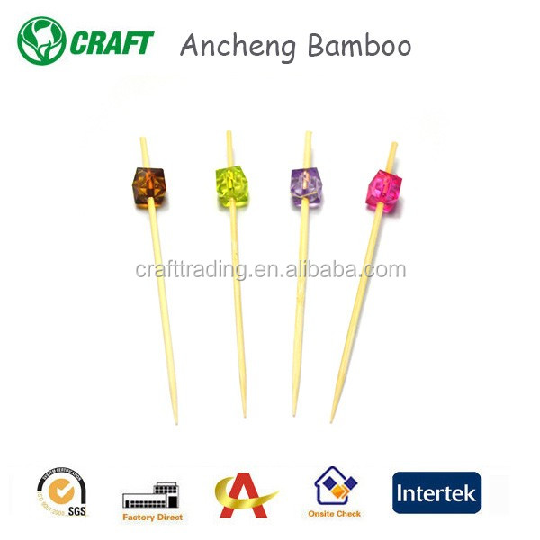AC Factory Wholesale Natural Knot Bamboo Skewers