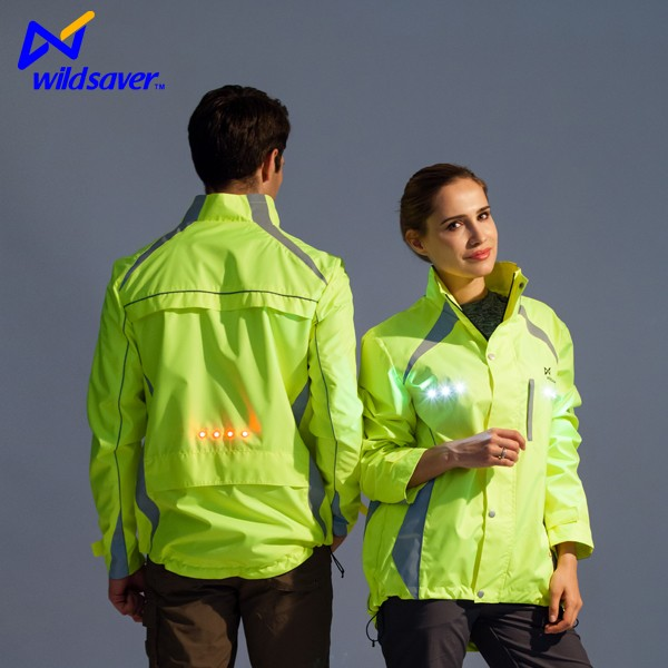 LED night safety riding jacket motorcycle
