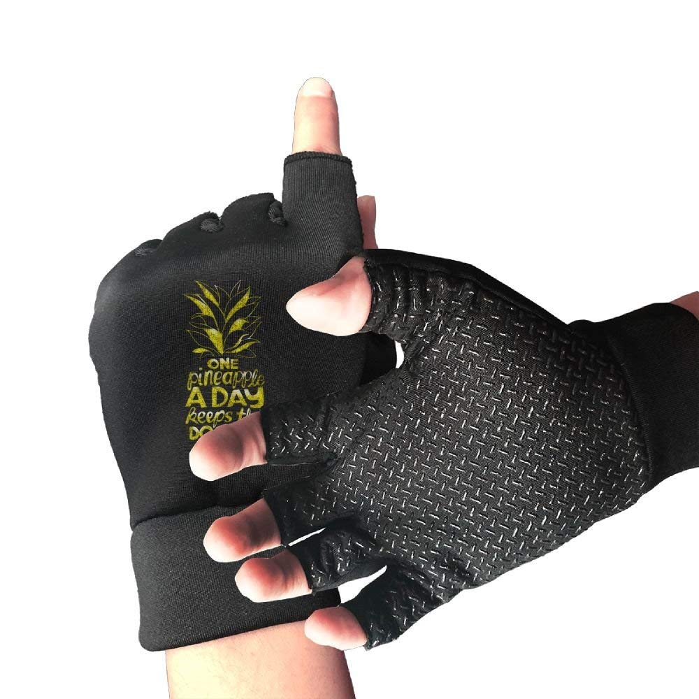 One Pineapple A Day Quote2 Unisex Half Finger Gloves