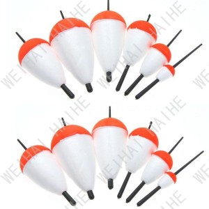 Polystyrene Red White Fishing Floats Fishing Accessory with Sticks