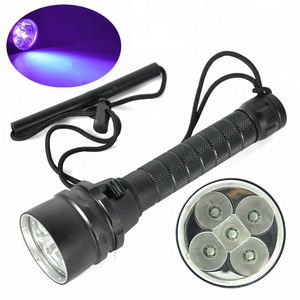Violet Flashlight Diving Torch Light High Quality Ultra Waterproof IPX8 Flashlight