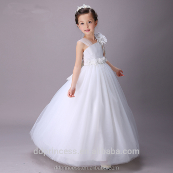 New Fashion White Wedding Ball Gown Prom 12 Years Old Girl Maxi