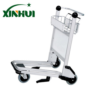 Airport Passenger Baggage Trolley Aluminum Alloy Trolley