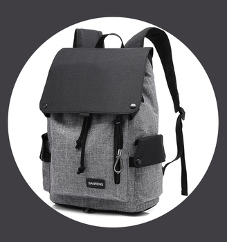 Fashion Casual Backpack Korean Style With Hidden Pocket, Waterproof Unisex Security Backpack Factory