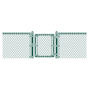 Construction real estate use hot dipped galvanized or pvc coated chain link fences