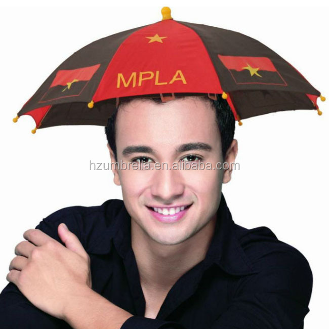Raius 35cmX8panels steel frame promotional head umbrella,can umbrella ,umbrella hats!