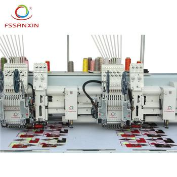Automatic 2 head computer embroidery machine with best price