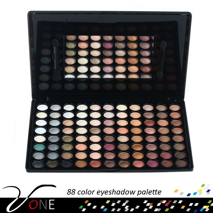 88 color earth tone eyeshadow palette with best quality,chinese makeup brands