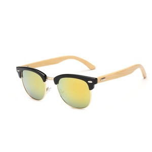 New product high quality wooden frame bamboo glasses sunglasses