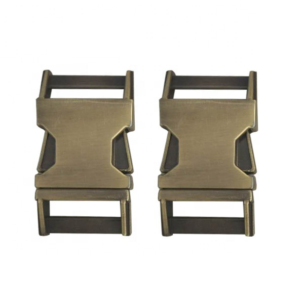 25mm Brush Antique Brass Side Quick Release Metal <strong>buckle</strong> for dog collar