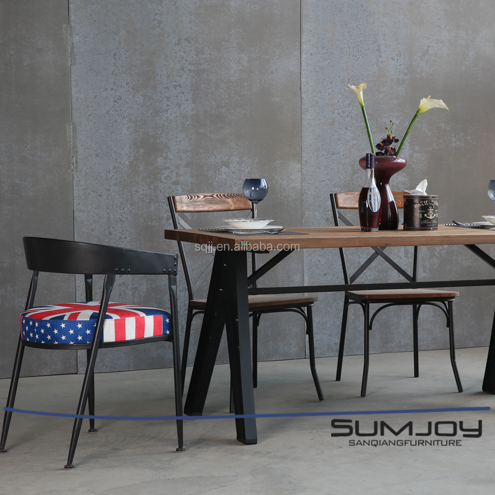 """SUMJOY rustic home furniture dining table designs teak wood table"""