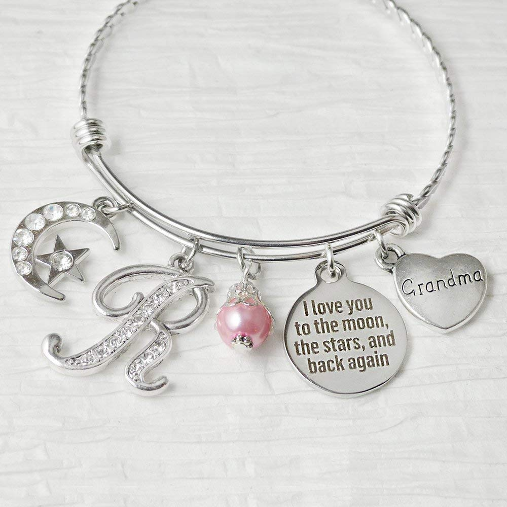 34687922e Get Quotations · Grandma Bracelet-I love you to the moon and back again  Jewelry, Expandable Bangle