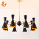 VERMILLION designs energy saving excellent indoor decorative iron 6&8 heads pendant light ,lighting pendant