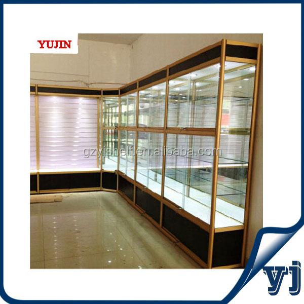 Vidrio de madera coche modelo vitrinas espejo de cristal - Vitrinas empotradas en pared ...
