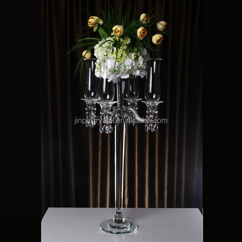 2014 new! wedding table centre piece crystal crystal candelabra & flower bowls