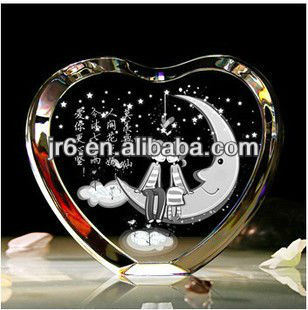 New Arrival Tranparent Glass Heart Paperweight