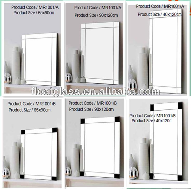 4 mm personnalis pas cher vanity d coratifs grand mur miroir sans cadre miroir biseaut sur. Black Bedroom Furniture Sets. Home Design Ideas