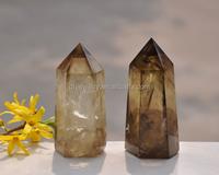 Blue Goldstone Quartz Crystal Pyramid Point Healing