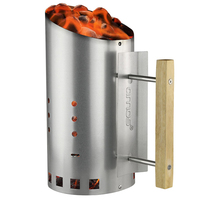 Barbecue Charcoal Chimney Starter Steel Rapid Fire Lighter