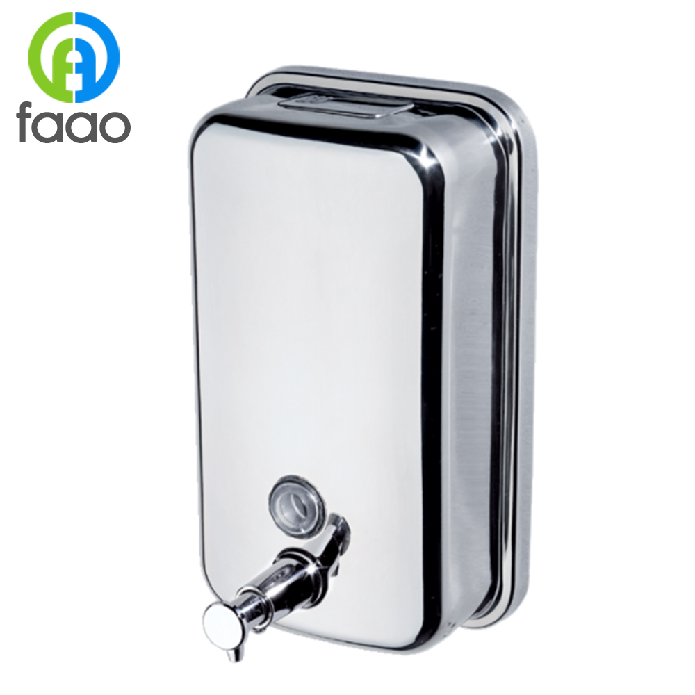 FAAO cheap price wall mounted stainless steel liquid automatic soap dispenser