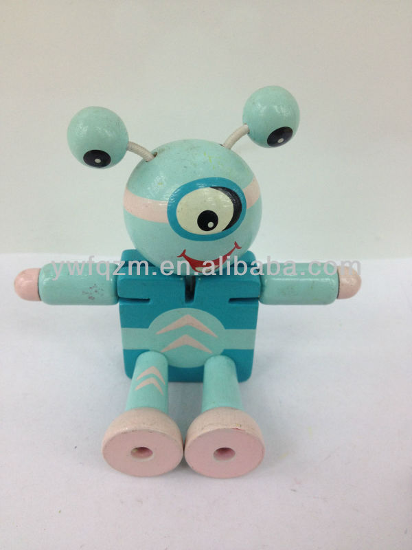 wooden robot insect toy educational