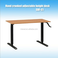 Hand Cranked adjustable height desk SHF-C1