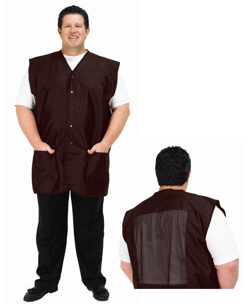 Betty Dain Plus Size Men's Vest, 2218 4X Brown