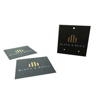 Black Stock Card Matt Gold Foil Stamping Brand Logo Jewellery Display Earring Cards