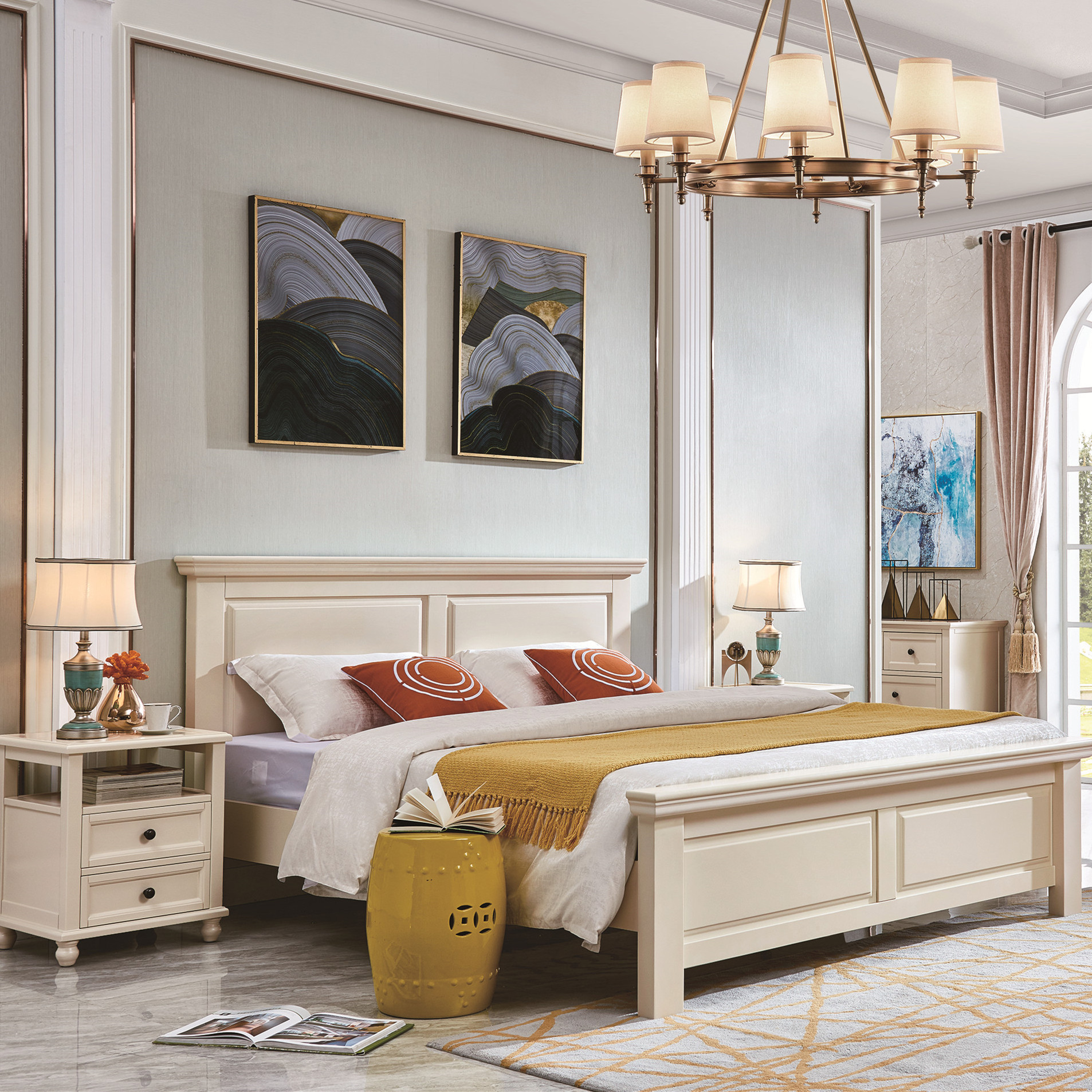 Classic Full Solid Wood White King Size Bedroom Furniture Sets Buy Antique Bedroom Furniture Set Antique Bedroom Furniture Sets Bedroom Furniture Set Luxury Product On Alibaba Com