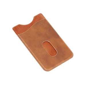 Leather PU Stitching Cell Mobile Phone Credit Card Holder