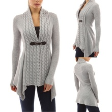 <span class=keywords><strong>Mode</strong></span> Femme Boucle Tresse Cardigan Tricots Pulls Chauds Automne Manches Longues Décontracté Mince <span class=keywords><strong>Outwear</strong></span>