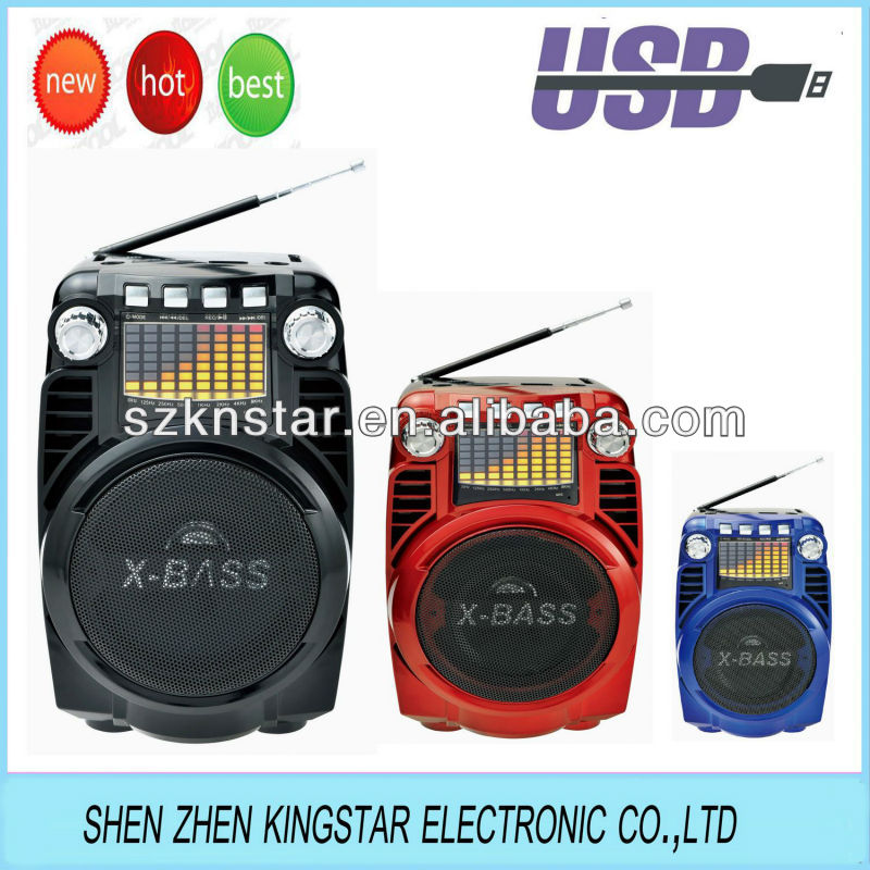 knstar boombox fm radio speaker with recorder/USB/SD/AUX IN