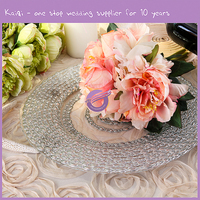 High Quality Custom Wholesale Cheap Personalized Glass Dinner Plates Dinnerware Sets Bulk