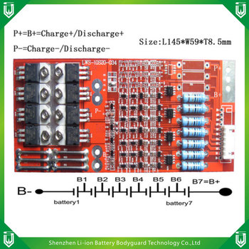 factory BMS/PCB/PCM 7S 20A for Li-ion/LiFePO4 Battery Packs