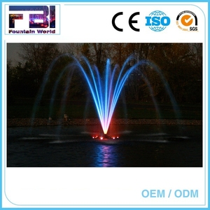 High quality customized stainless steel pond floating fountain square music fountain