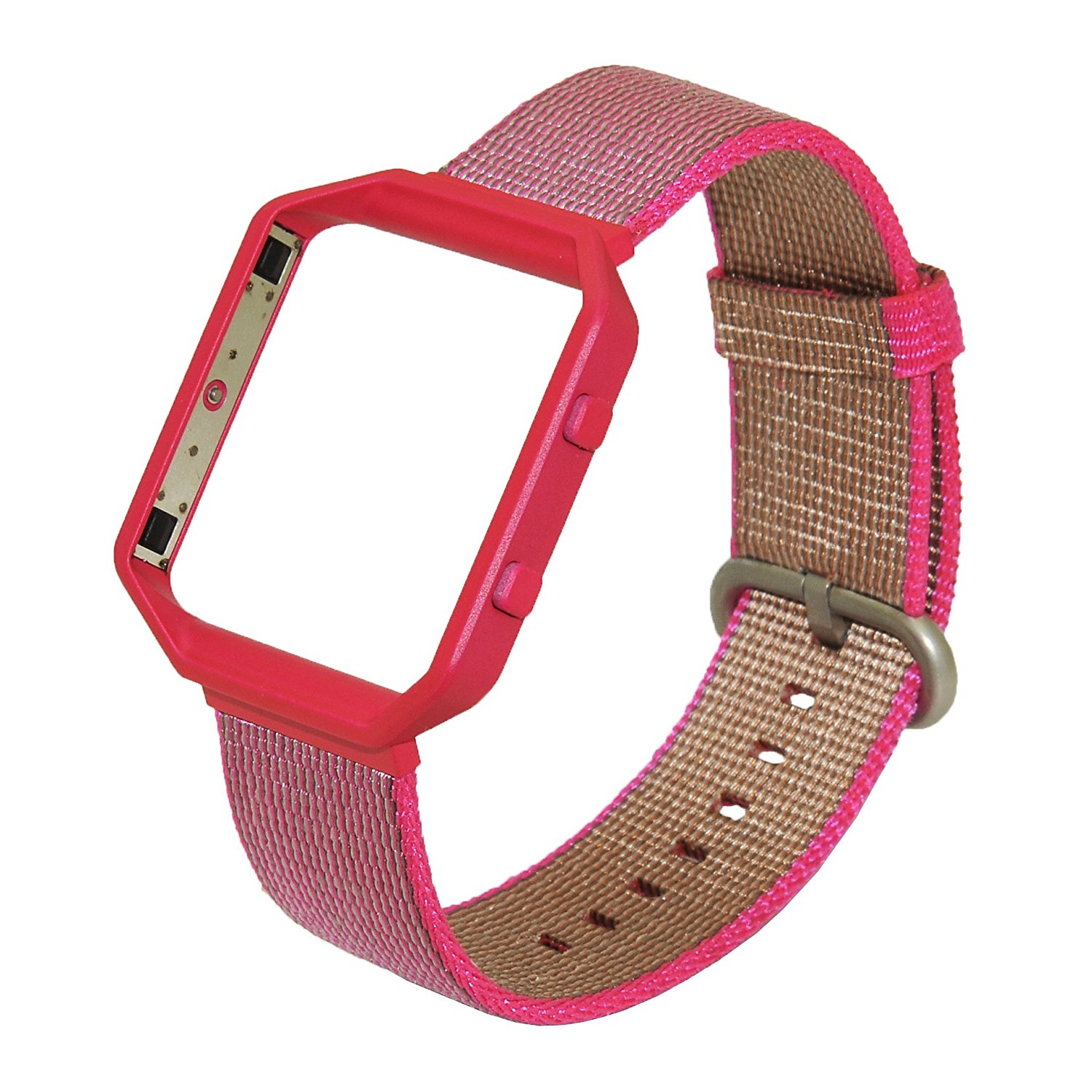 Fitbit Blaze Woven Nylon Band, No1seller Comfortable Woven Nylon Watch Band Strap Bracelet Replacement with Metal Frame For Fitbit Blaze Smart Fitness Watch