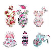 2019 hot selling products cute wholesale newborn infant floral romper baby clothes for girls