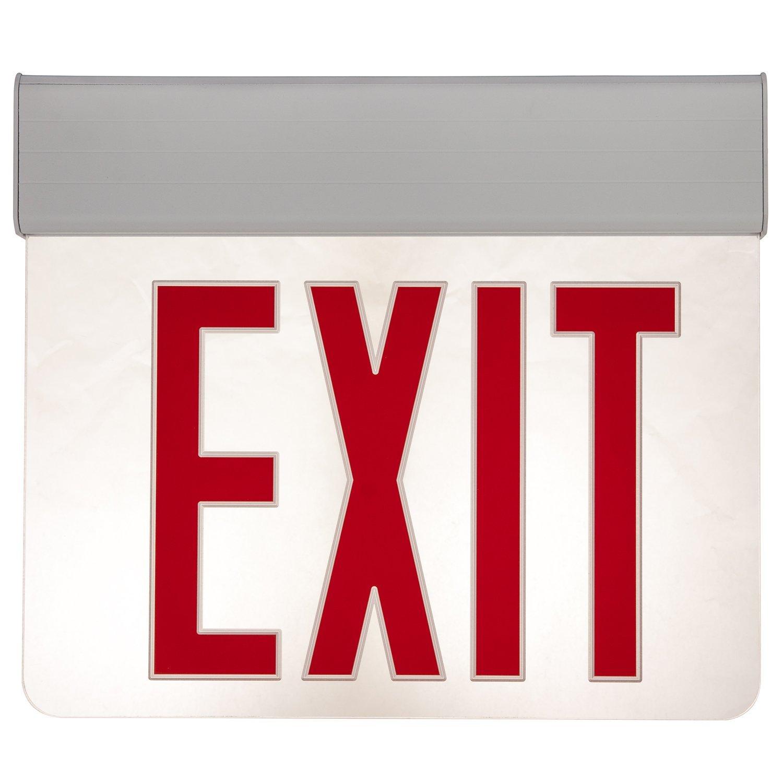 Sunlite 04317-SU EXIT/EDGE/SU/1F/RC/WH/NYC Surface Mount Exit Light