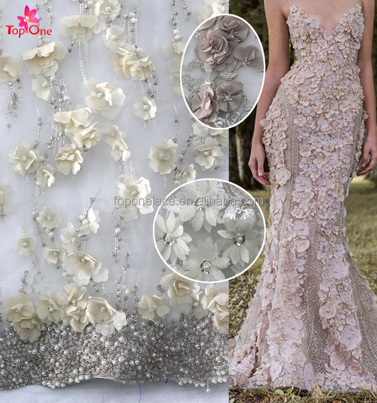 3d flower lace embroidered fabric discount lace fabric embroidery dubai