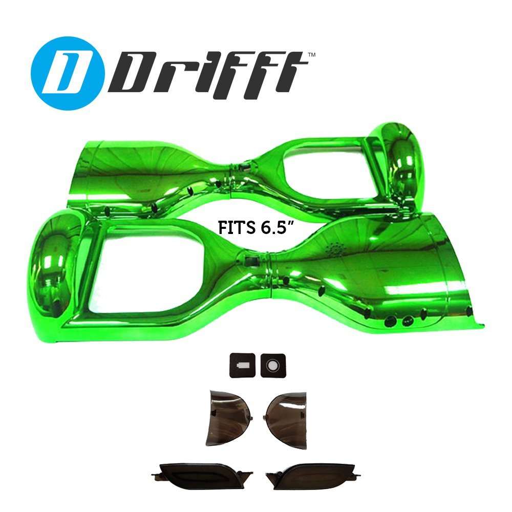 "6.5"" Hoverboard Shell Replacement in Green Chrome for 6.5 inch Smart Self Balance Scooter"