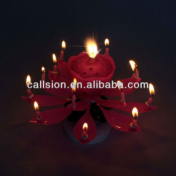 Romantic Magic Effect Music Firework Cake Candle